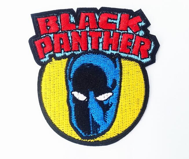 Sale Black Panther iron on patches cloth embroidered DIY Applique movie TV Badge wholesale