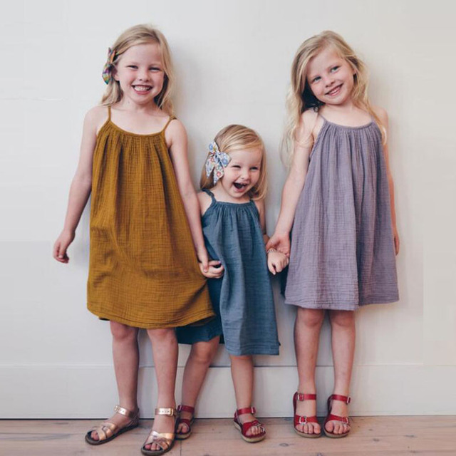 Kids Dresses For Girls Soft Cotton Infant Dress 1Y-5Y Casual Baby Girl Clothing Toddler Children Dress Summer Holiday Girl Dress