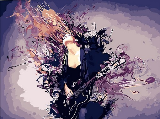 YKXLLW Rock bazaar song queen oil Painting picture By Numbers Drawing coloring by numbers DIY drawing living room decoration image