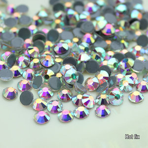 Image 3 - Wholesale! 14400Pcs 1440Pcs Hot Fix Rhinestone Flatback Iron On Hotfix Strass Crystal AB / Clear Fine Wedding Dress Accessories