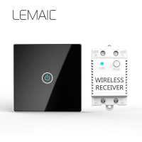 LEMAIC 1Gang EU Standard Smart Switch Remote Control Touch Wall Light Touch Switch 170 240V Surface