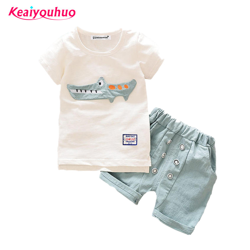 Baby Boys Clothing Sets 2017 Summer T-shirt+Shorts 2pcs Toddler Boys clothes 0-1-2-3-4 years kids clothing Sport Suit