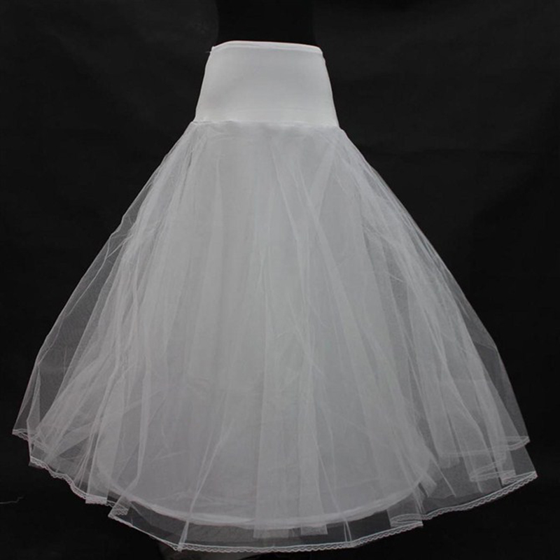 2018 Underskirt Hot Sale NO Hoop Ball Gown Bone Full Crinoline Petticoats for Wedding Dress Skirt Accessories Slip In Stock