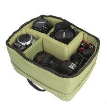 جديد وصول ماء بطانة حالة وقائية لينة للصدمات كاميرا dslr slr عدسة الكاميرا حقيبة إدراج مبطن الحقيبة الرقمية