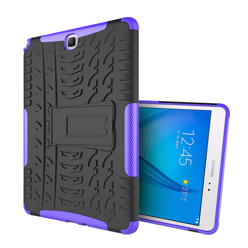 For Samsung Galaxy Tab A 9.7 T550 T555 Tablet Case Shockproof Kickstand Hybrid Armor Cover Cases For Tab A 9.7