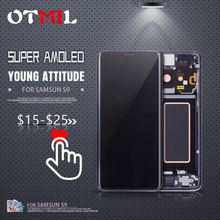 ORIGINAL SUPER AMOLED Replacement for SAMSUNG Galaxy S9 LCD Touch Screen Digitizer with Frame S9 Plus LCD G960 G965 with Frame 6 2 inch super amoled replacement for samsung s9 plus g965 g965f lcd screen display digitizer touch screen for s9 plus sm g965f