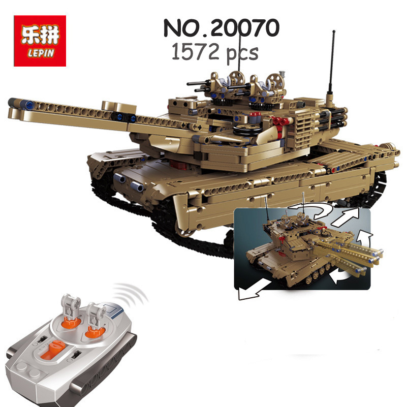 Lepin RC Tank Building Blocks Military Series Remote Control 1572pcs Bricks Assembled Toys Gifts For Children Compatible 20070 kazi large military 1463pcs 2in1 tank hummer building blocks bricks army war models toys for boys children compatible lepin