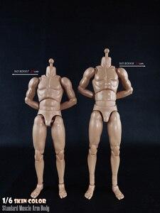 Image 4 - BD001/BD002/BD003/BD004/BD009/BD010 1/6 мужские стандартные мышцы тела узкие плечи 2,0 Мужской 27 см/25 см модель для 12 фигуры