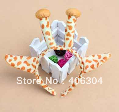 Free shipping, children/adult fancy dress party props ,giraffe ear headband , hair accessories . halloween party costume item