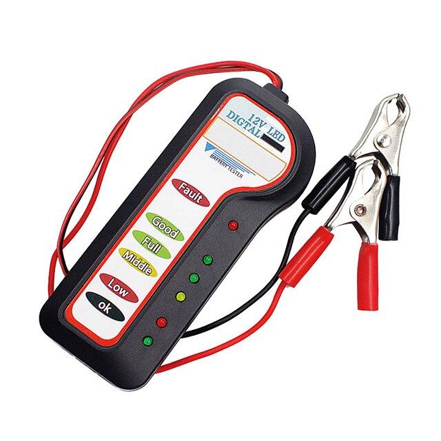 12V Car Battery Tester Diagnostic Tool Alternator Voltage Automobile Vehicle Battery Scanner
