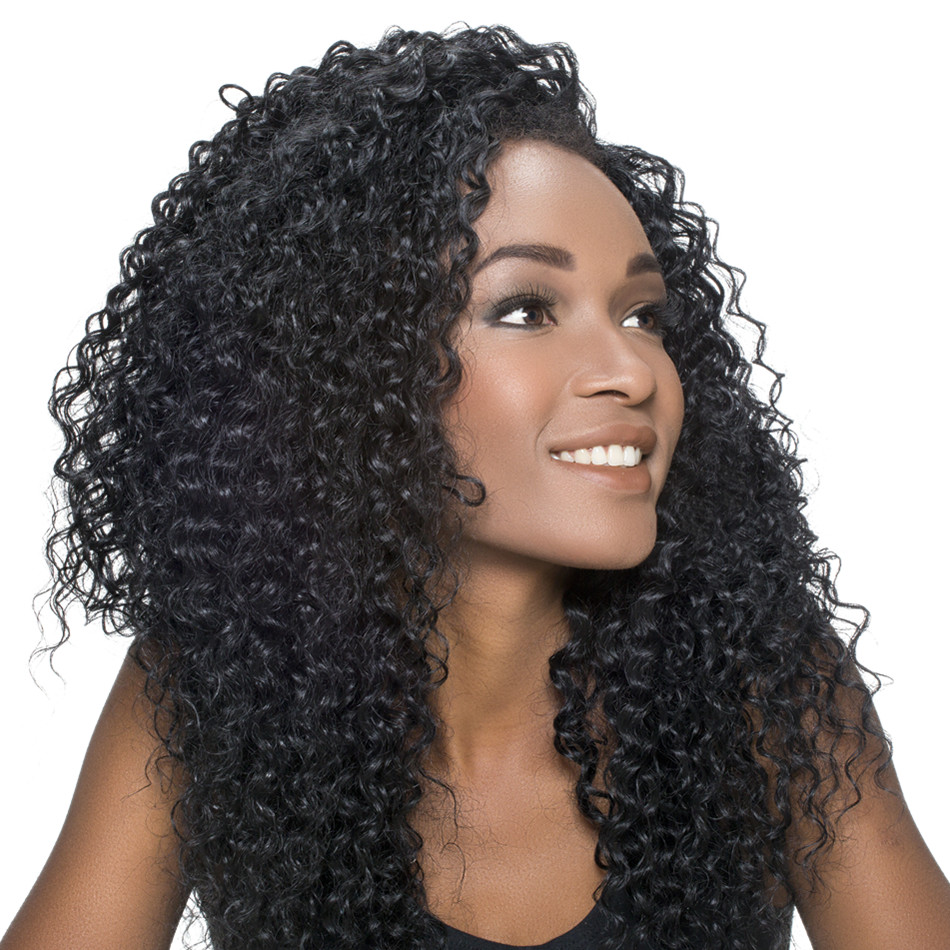Human Hair Bundles With Closure Brazilian Kinky Curly Weave Human Hair 3 Bundles With Lace Closure Middle Part  BOL Remy Hair