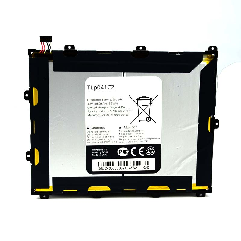 New Tablet PC Battery TLP041C2 4060mAh For Alcatel One Touch POP 8 OT 9020 P320A