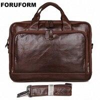 Пояса из натуральной кожи Для мужчин Курьерские сумки Бизнес 14 дюймов Сумка для ноутбука Для Мужчин's Портфели Tote плеча ноутбук Для мужчин п