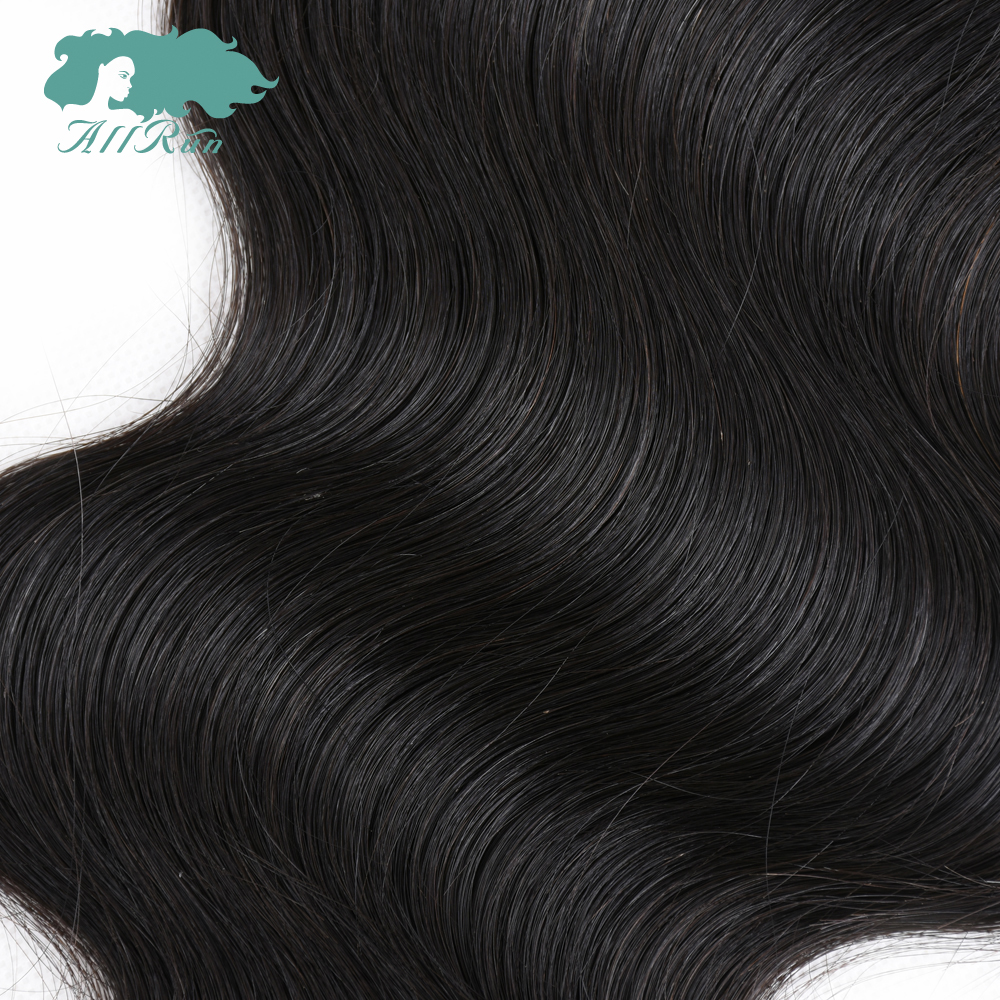 Allrun Malaysian Body Wave 4*4 Middle Free Three Part Closure 130% Destiny Swiss Lace 8-20 Inch NonRemy Human Hair Natural Color