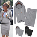 New Fashion Women Suits Leisure Sweatshirts Spring Autumn Casual Tracksuit Top And Skirt 2 Piece SV004932