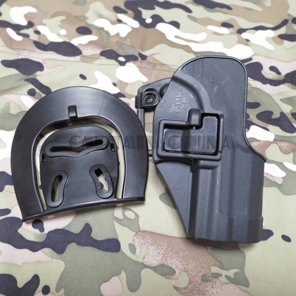 Preto Militar tático coldre de arma para a H   K USP Compact RH Pistol  Paddle Belt Holster para HK USP 4b087328a9a