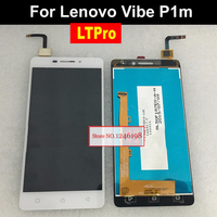 100 Tested Black White NEW Full LCD Display Touch Screen Digitizer Assembly For Lenovo Vibe P1m