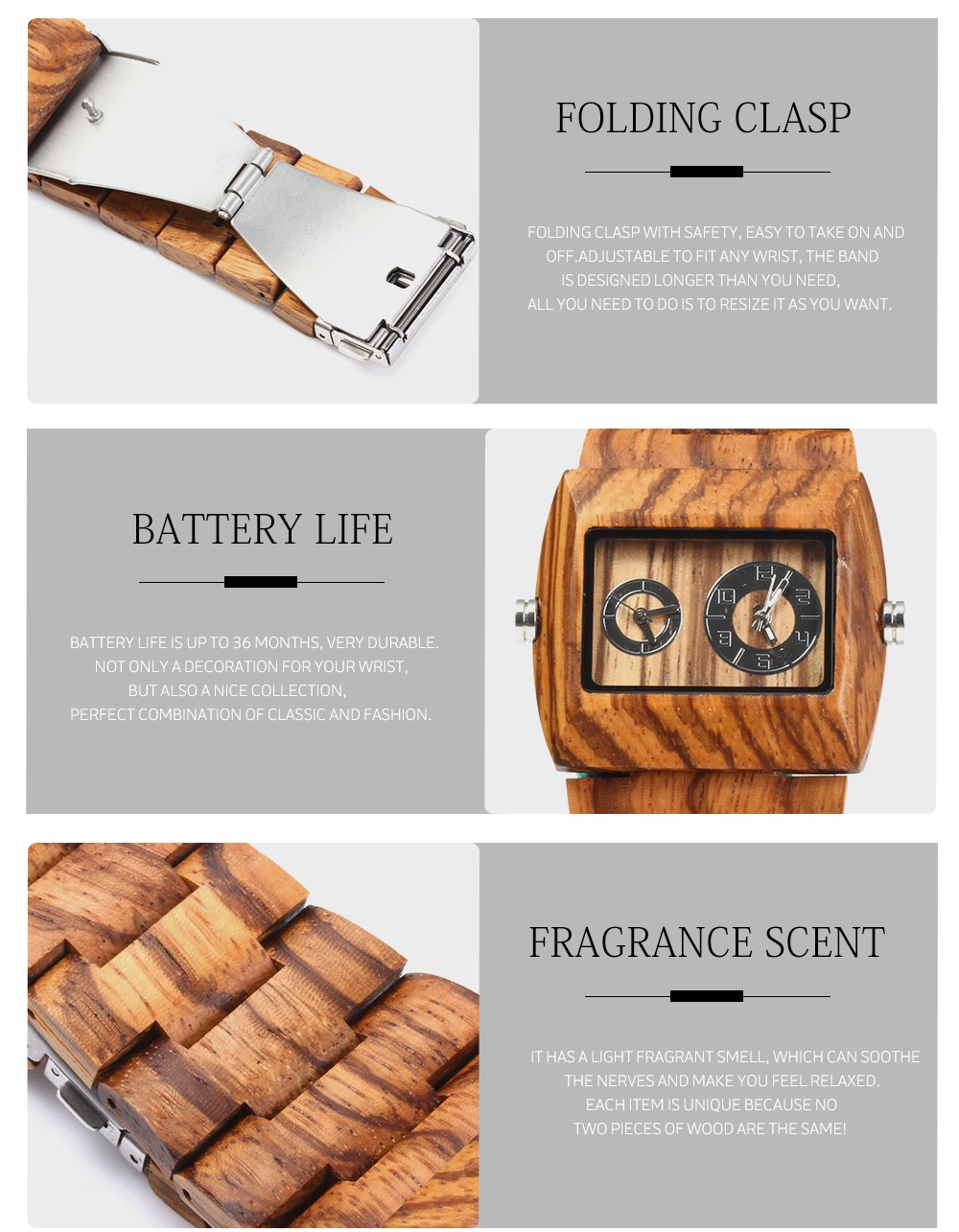 Mens Watch Wooden Luxury Wood Watch Top Selling Bewell Natural