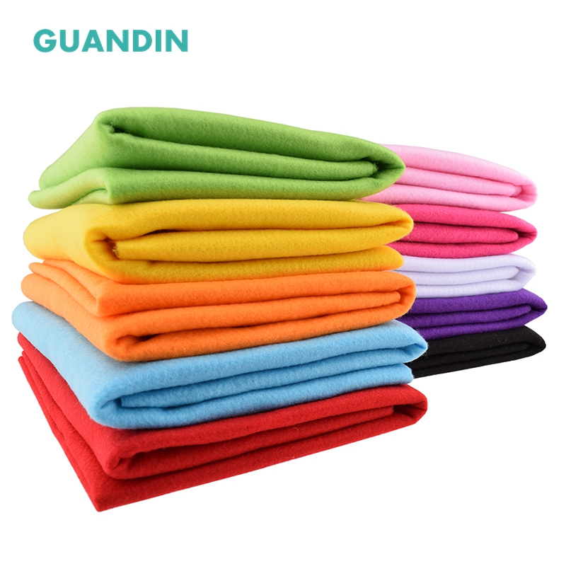 GuanDin,Soft Felt Cloth/Polyester Nonwoven  Fabric/Thickness 2mm/for DIY Sewing Toys,Crafts Dolls/1pcs In 1 Pack/45cmx90cm