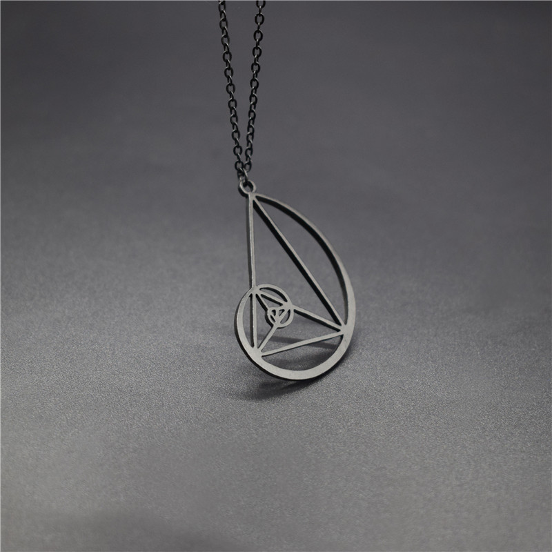 Elfin New Spiral with Triangle Necklaces <font><b>Fibonacci</b></font> <font><b>Pendant</b></font> Ratio Psychology Necklace Science Biology Jewelry image