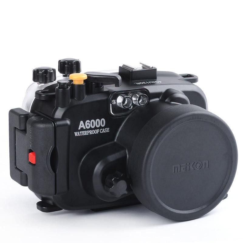 Para Sony A6000 16-50mm lente Meikon 40 m 130ft resistente al agua caja cubierta cámara de natación