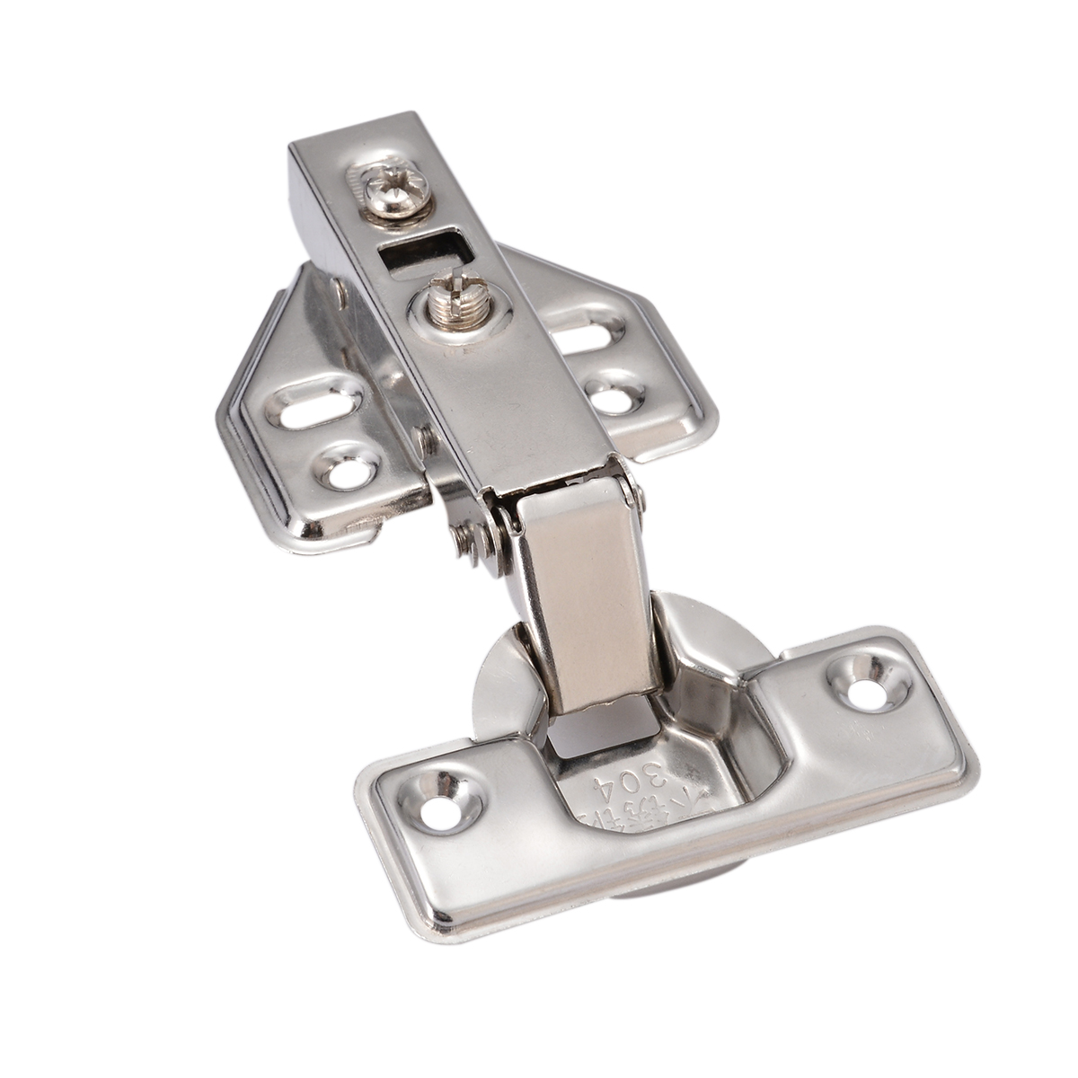 Full Overlay Hydraulic Hinge Plate No-Drilling Hole Door Hinge Safety Damper Buffer For Cabinet Cupboard Furniture Hardware цены