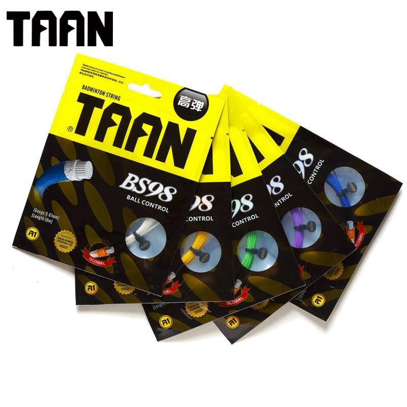 10pcs TAAN BS98 Badminton Racket String Flexibility Training badminton String 10m gauge 0.67mm