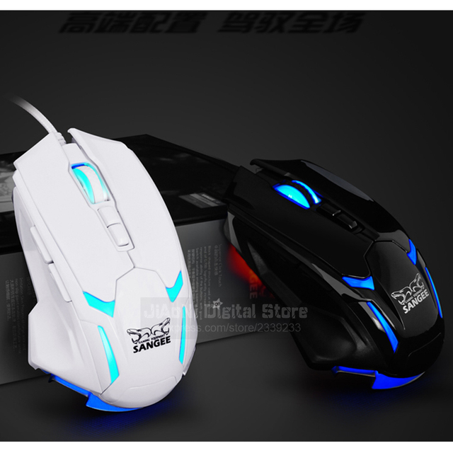 131ece6b878 Sangee Optical Gaming Mouse Gamer Mause Deathadder 3500 DPI USB Wired 7D 8  Buttons CS GO