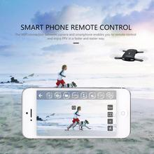 Newest design Pocket Selfie Drone Quadcopter H37 Phone Control RC Drone Elfie Pocket Foldable Wifi FPV With 0.3 MP Camera