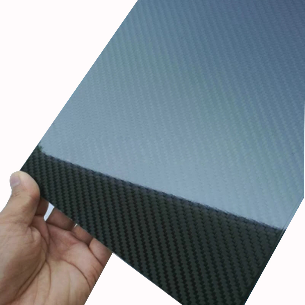1 Piece 100mmX250mmX0.3mm 3K plain Weave Glossy Carbon Fiber plate panel sheet For RC Airplane Model tator rc 3k carbon fiber plate 3 5mm tl2900