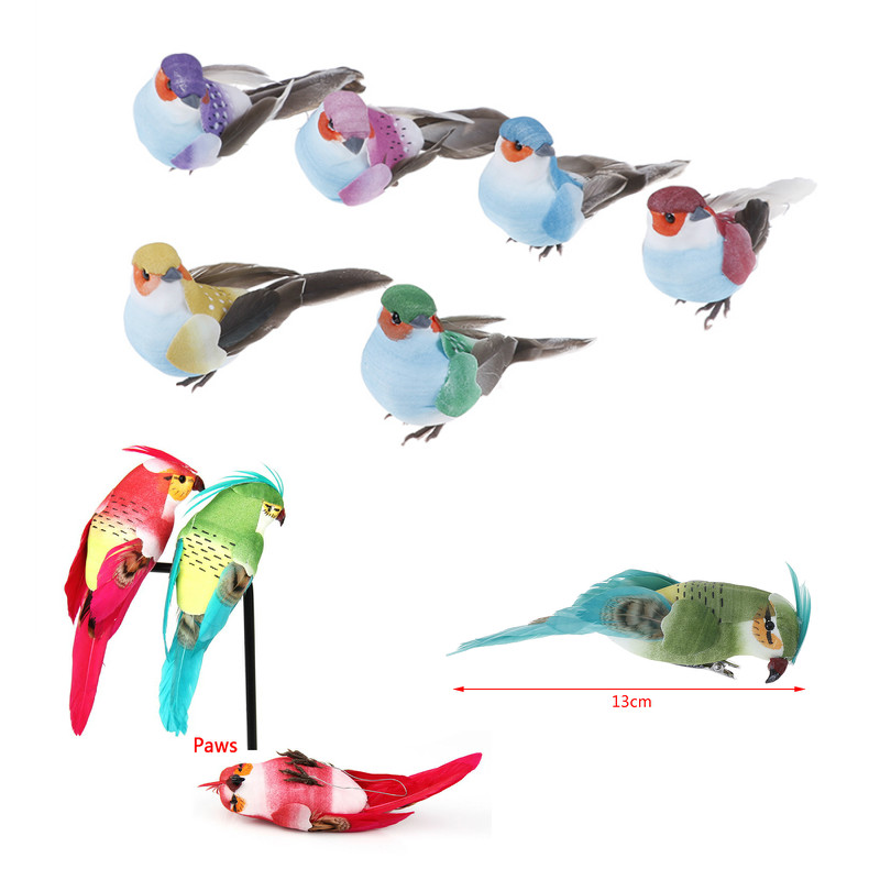 Decorative Bird-Toy Table-Decor Craft Wedding-Ornament Doves Parrot Artificial-Foam-Feather