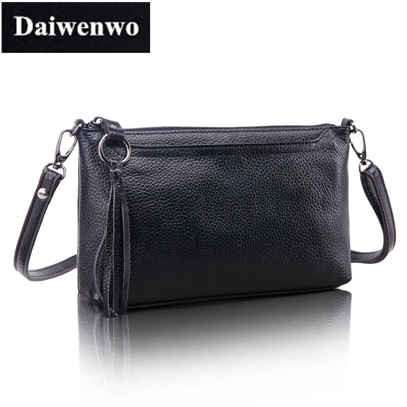 J08 Women Genuine Leather Handbag For Female First Layer Cowhide Ladies Messenger CrossBody Shoulder Bags Tassel