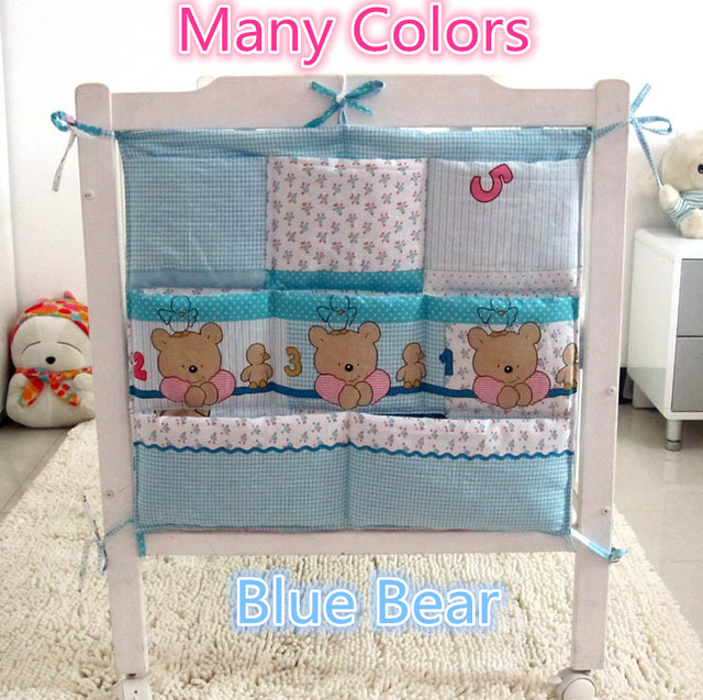 Promotion! Kitty Mickey 62*52cm Baby Bed Storage Bags Large Baby Organizer Clothes Toys Storage Accessories,Baby Bedding Set
