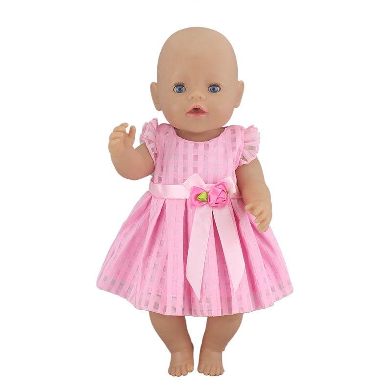 Nouvelle belle robe adaptée pour bébé né 43cm poupée vêtements poupée accessoires pour 17 pouces bébé poupée