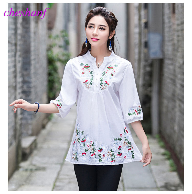 ⊹ vintage s women ethnic № floral embroidered
