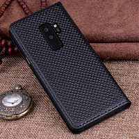 2PCS Genuine Leather For S9 S9 P Case Back Case Cover For Samsung GalaxyS9 S9 Plus