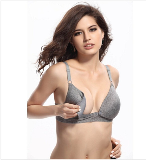 d2711bb53c Maternity Nursing Bras Women Sexy Underwear Cotton Bra Breast Feeding Bra  For Nursing Wire Free Comfortable