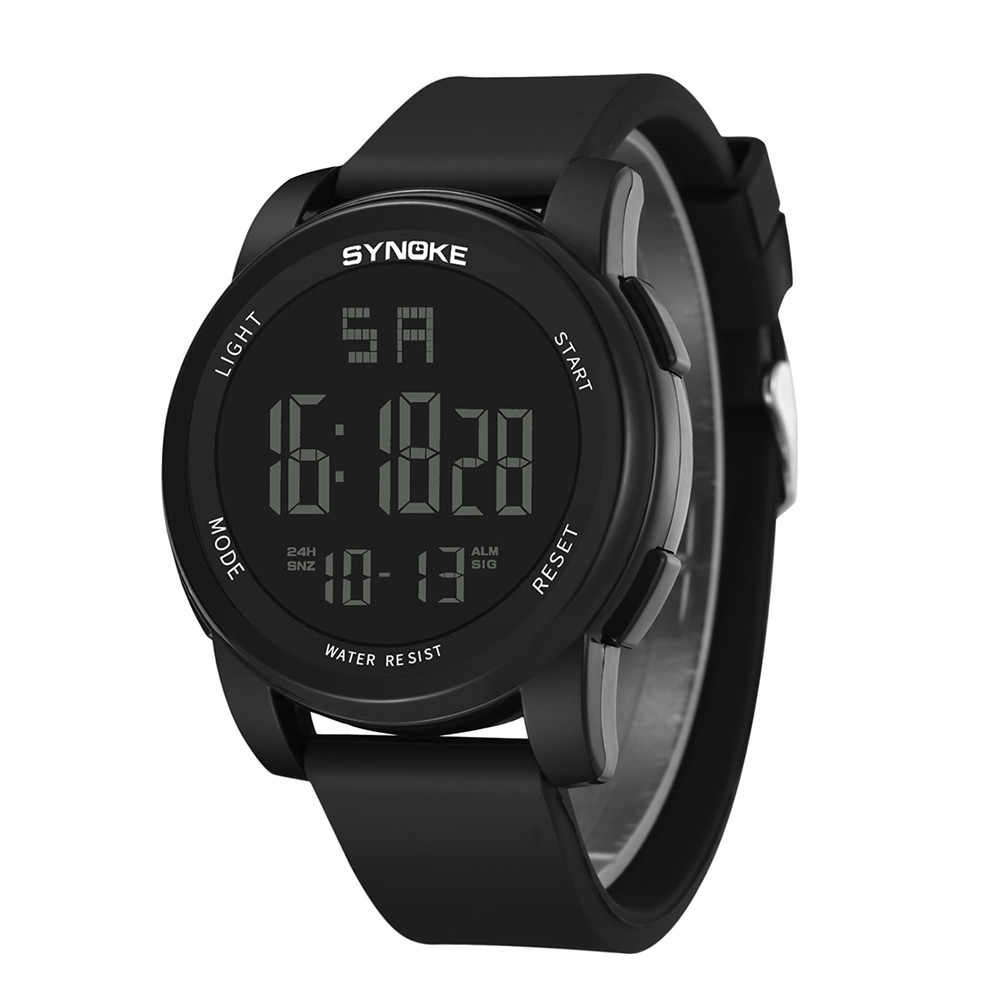 حار الرجال الرياضة ساعات متعددة الوظائف العسكرية ساعة رياضية LED الرقمية المزدوج حركة المطاط ساعة معصم 2019 ساعات