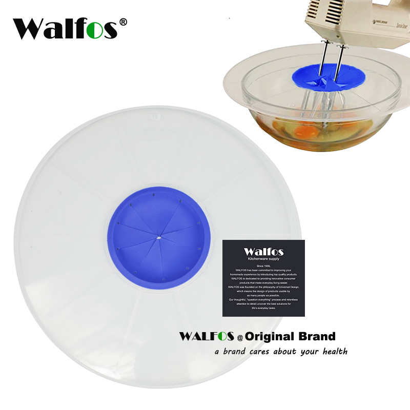 WALFOS FOOD Grade silicone Bowl Whisks Screen Cover Egg Baking Splash Guard pot pan cover Bowl Lids Kitchen Tools