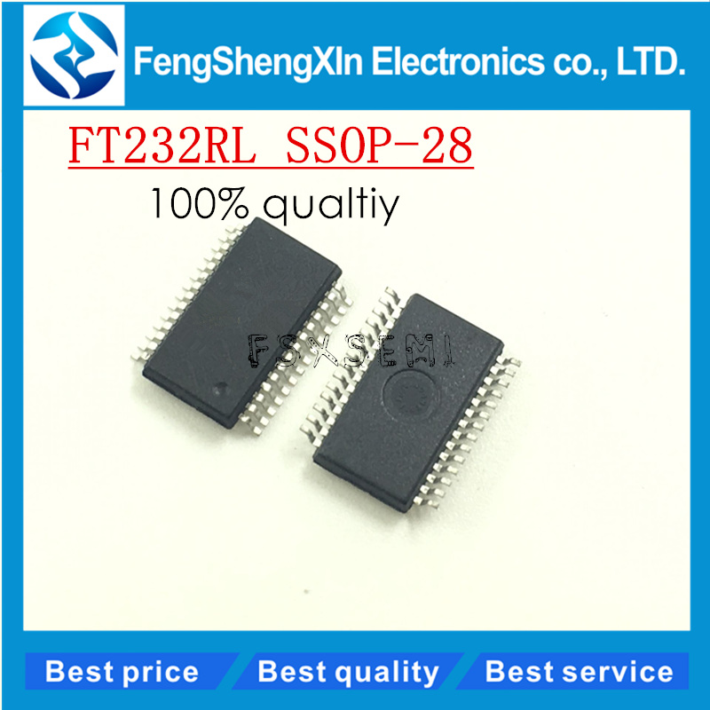 5pcs/lot New <font><b>FT232RL</b></font> FT232 FTDI USB FS SERIAL UART SSOP28 serial <font><b>chips</b></font> imported original image