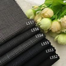 High-grade wool suit fabric Wool Plaid England fabric vest pants dress coat