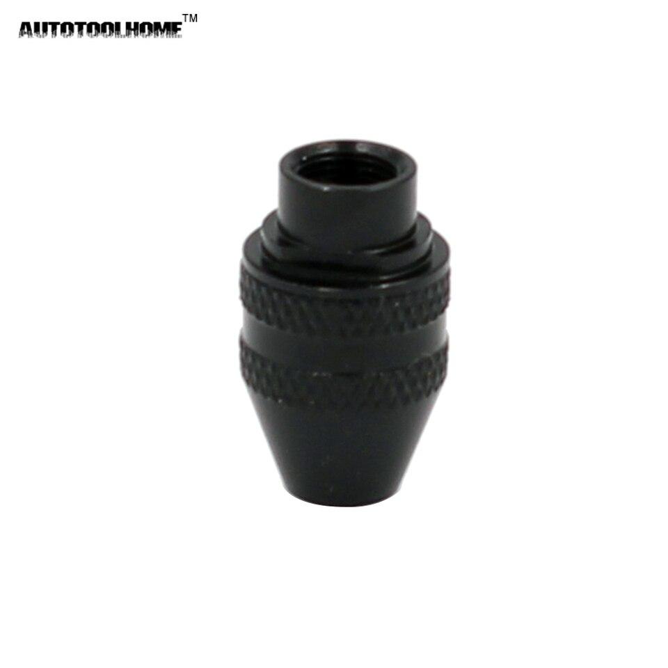 negro corto DOITOOL mini portabrocas de 3 mordazas portabrocas universal dremel portabrocas universal sin llave de repuesto sin llave para herramientas rotativas dremel
