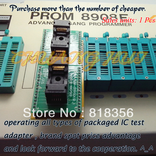 TSOP32-DIP32 Adapter Test Socket/IC Socket for PROM8908E Programmer Adapter 14mm/12.4mm test qfn32 to dip32 programmer adapter wson32 dfn32 mlf32 test socket 1pin 1pin universal adapter