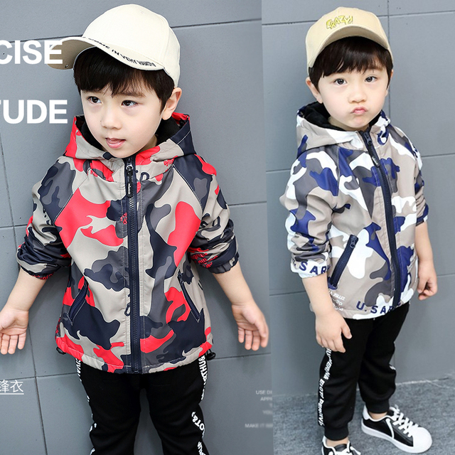 08f13be3c Baby Boys  Fashion Camouflage Outdoor Jackets 2018 Spring Fall ...
