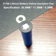100pcs/lot Lithium Battery Positive Hollow Insulating Mat 21700 Flat Head Insulation Meson Paste Gasket 20mm*11.5mm 100pcs lot 21700 lithium battery high temperature insulation gasket hollow flat head surface pad insulating meson 20 5 11 5 0 4
