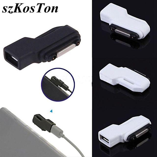 Wysokiej jakości fabrycznie nowy Micro USB do złącza magnetycznego Adapter do SONY Xperia Z3 Z2 Tablet Z1 kompaktowy Mini Z3 kompaktowy Tablet Z3
