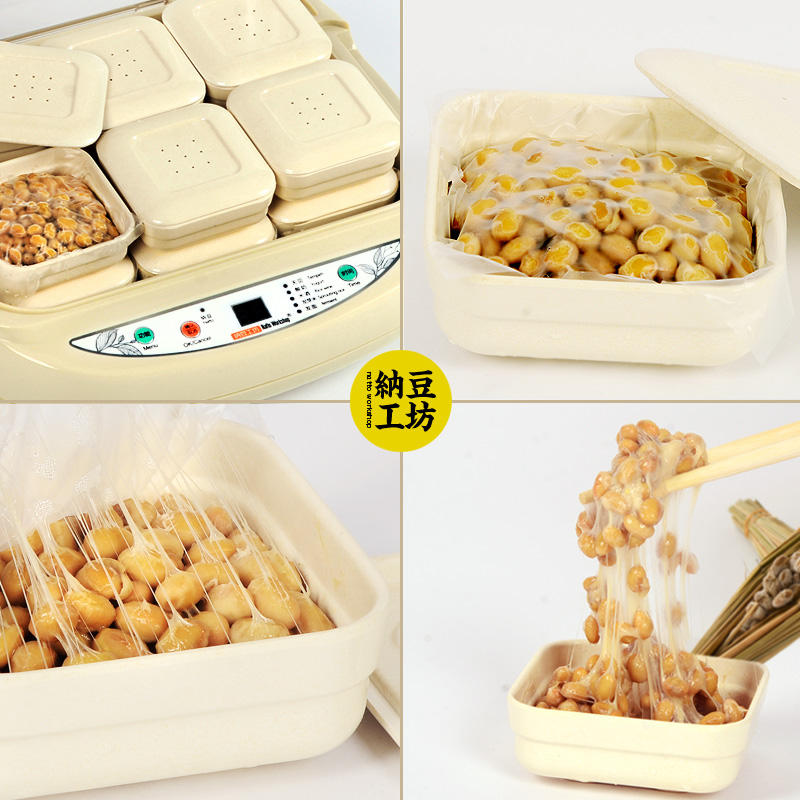 все цены на 12pcs/lot Replacement Plastic Natto Fermenting Box Electric Natto Machine Parts Professional Bamboo Fiber Food Grade