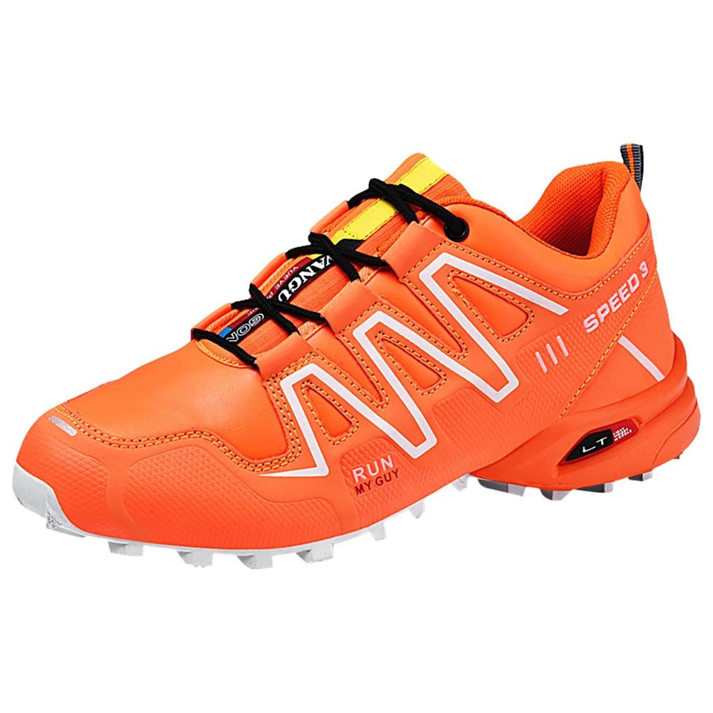 CHAMSGEND Men Cross country Running Shoes Men Outdoor