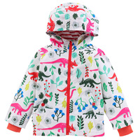Dinosaur Designer Children Coat Cute Hooded Jackets Cardigans Spring Autumn Windbreakers Fashion Outerwear Trench Coats 2-7T