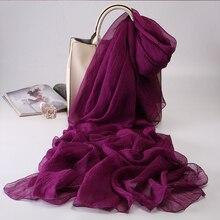 Зимний фиолетовый шарф кораллового цвета, длинный тонкий двухцелевой фиолетовый марлевый шифоновый платок большого размера, 2019